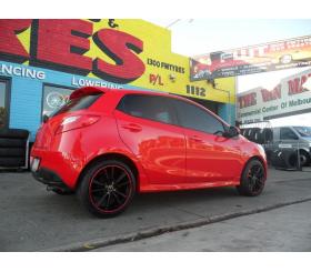 Vehicle Make: Mazda<br>Vehicel Model: Mazda 2<br>Wheel Model: OX